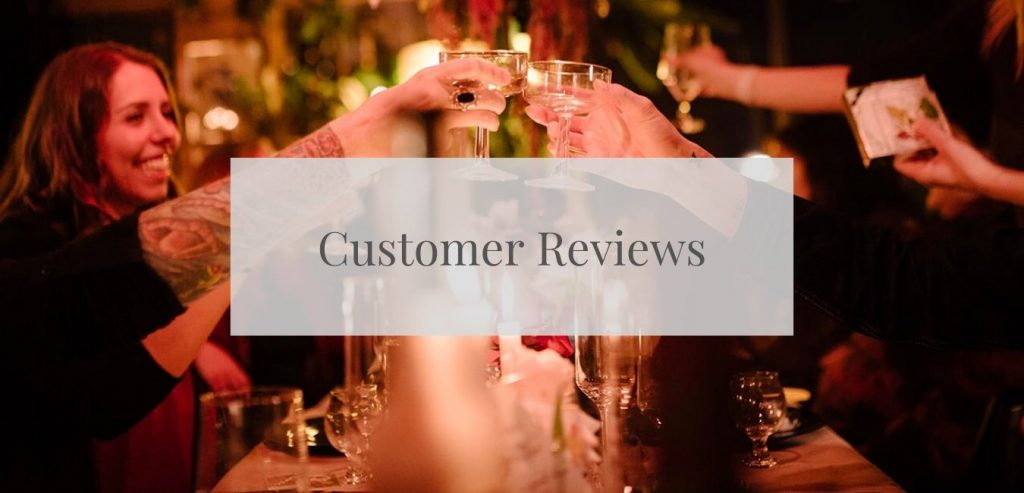 Customer Reviews of our Event Rentals
