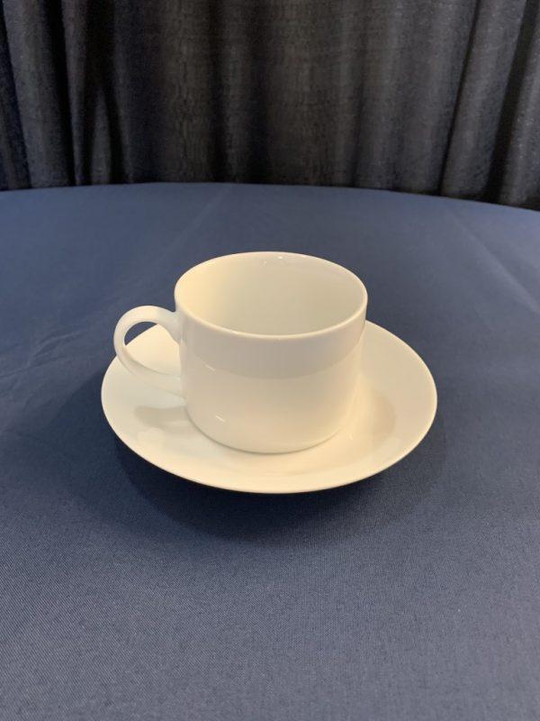 royal white coffee cup