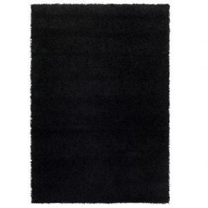 Medium Black Shag Rug
