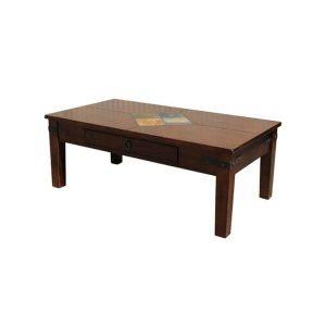 Mahogany & Tile Coffee Table