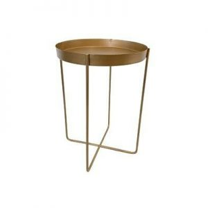 Gold Tray End Table