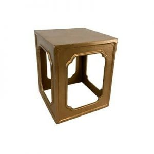 Gold Frame End Table