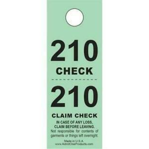 coat check ticket