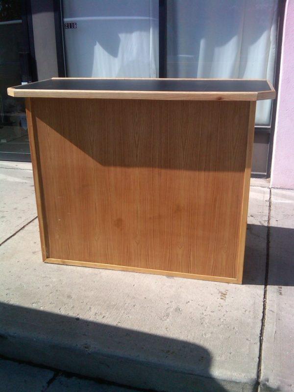 portable wood bar