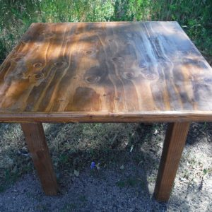 wood farm table