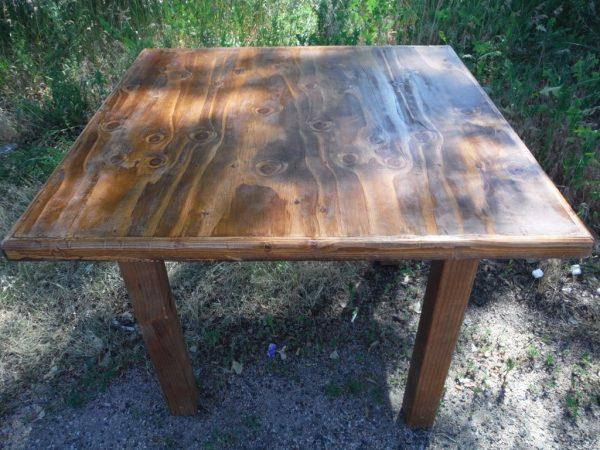 wood farm table