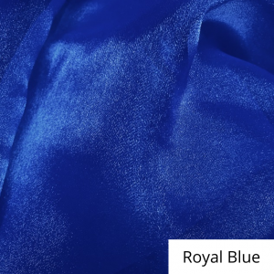 Royal Blue Organza Linen Rental