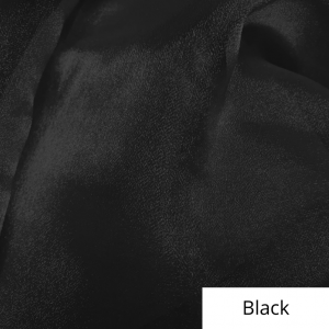 Black Organza Linen Rental
