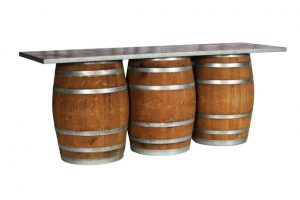 3 wine barrel bar rental