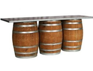 3 wine barrel bar rental
