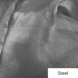 Steel Organza Linen Rental