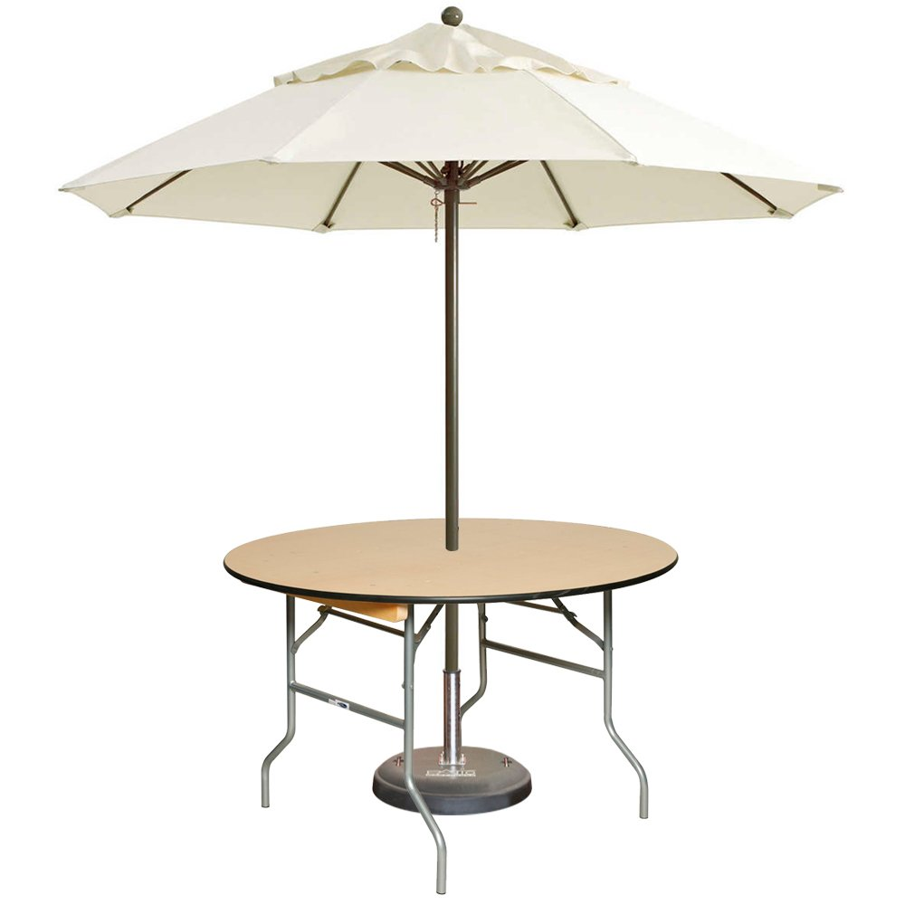 4ft table with umbrella