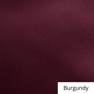 Burgundy Satin Linen