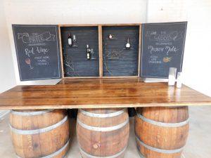 3 wine barrel bar
