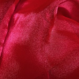 red organza linen