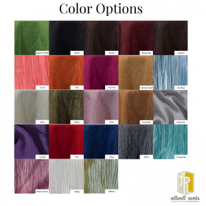 Crinkle Color Options
