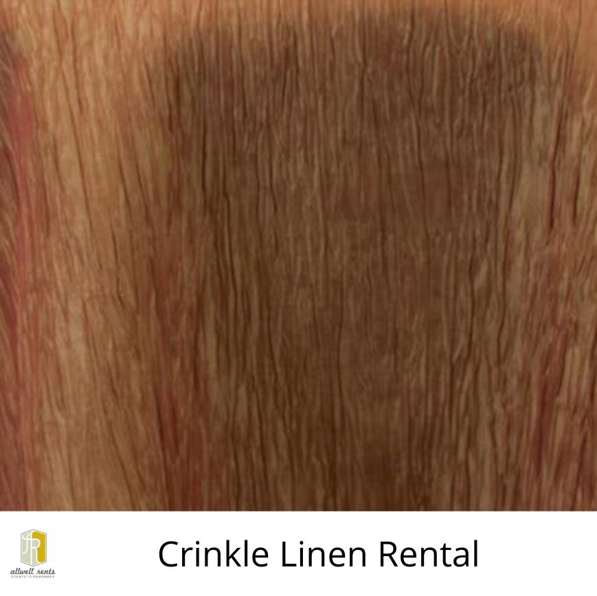 Crinkle Linen Rental