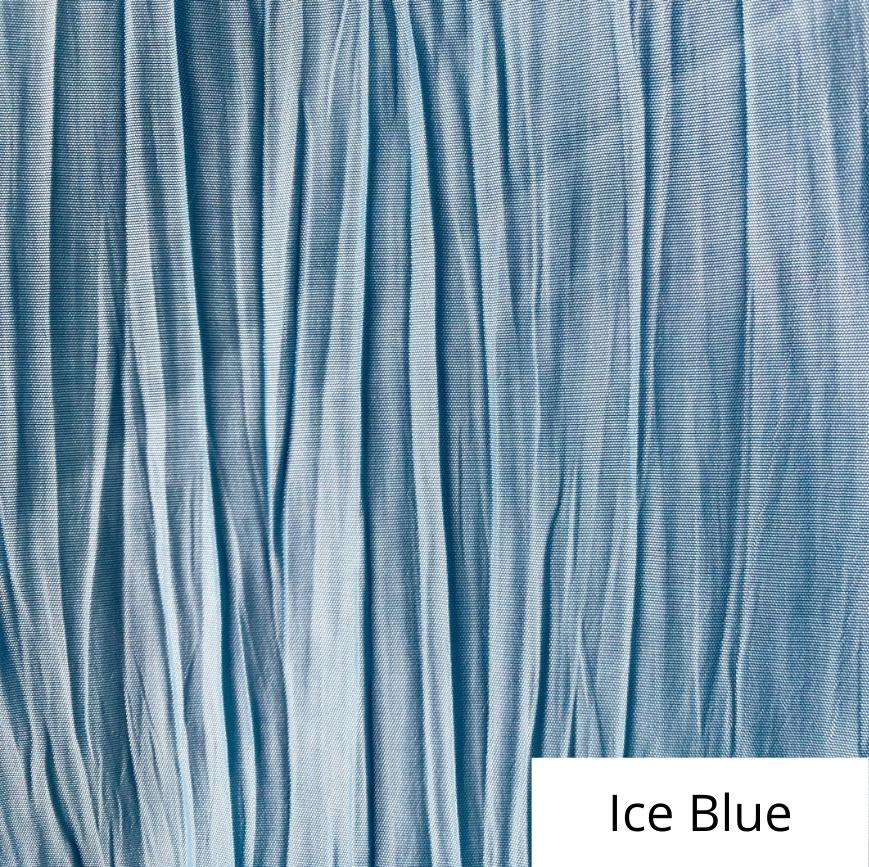 Ice Blue Crinkle Linen