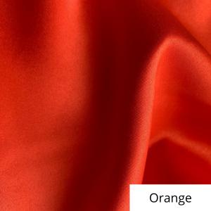 Orange Satin Linen