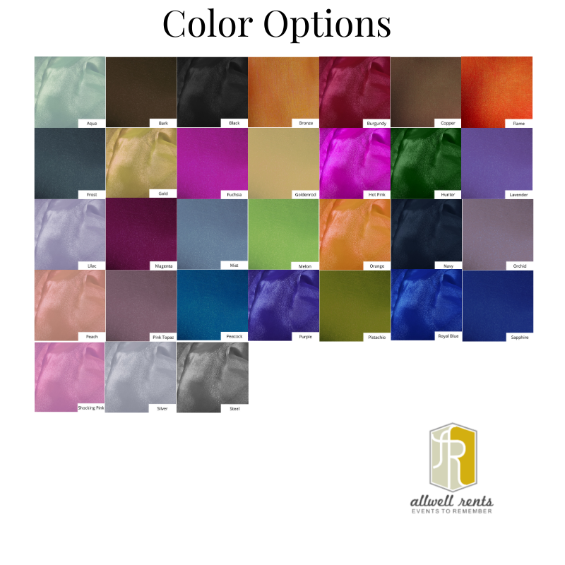 Organza Color Options