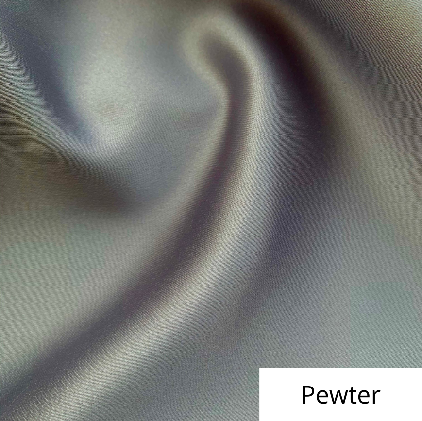 Pewter Satin Linen