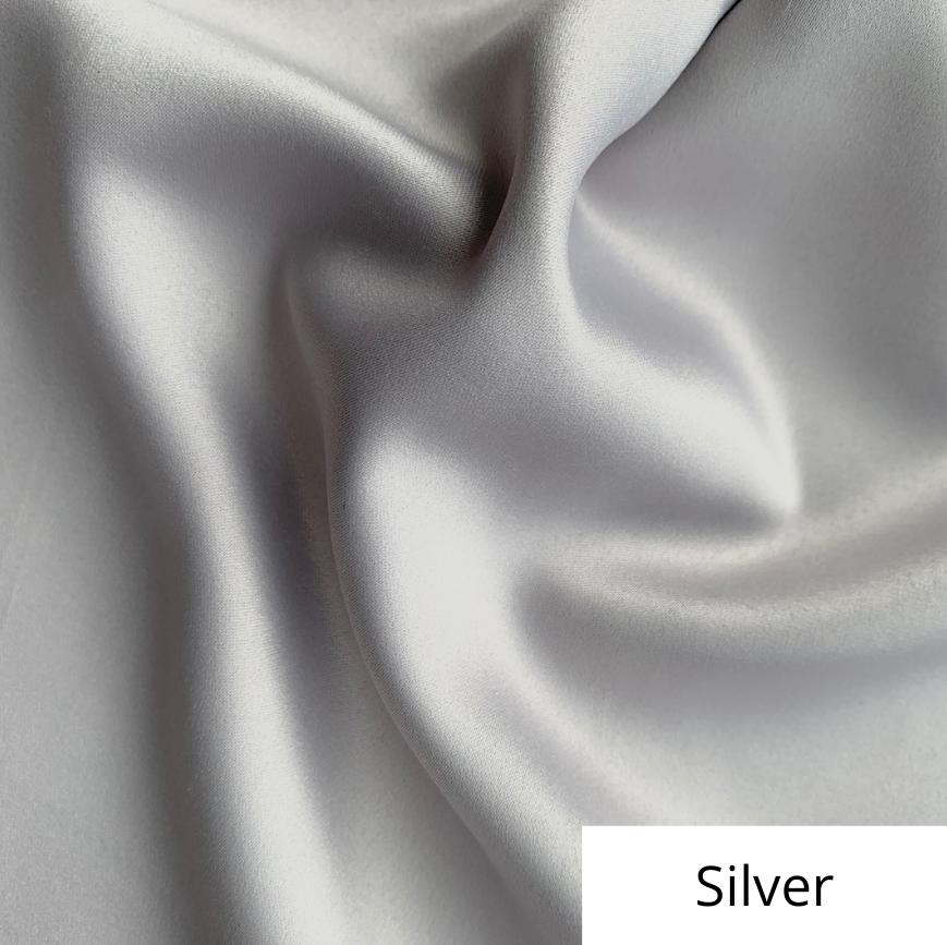Silver Satin Linen