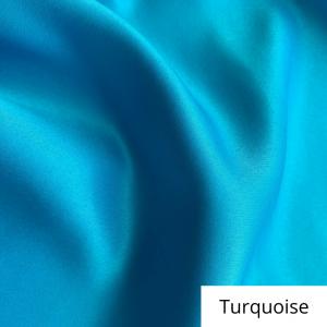 Turquoise Satin Linen