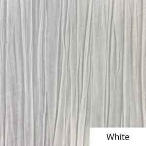 White Crinkle Linen