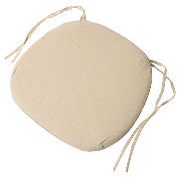 beige cross back chair pad