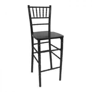 black chiavari bar stool