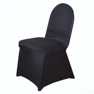 black spandex chair cover