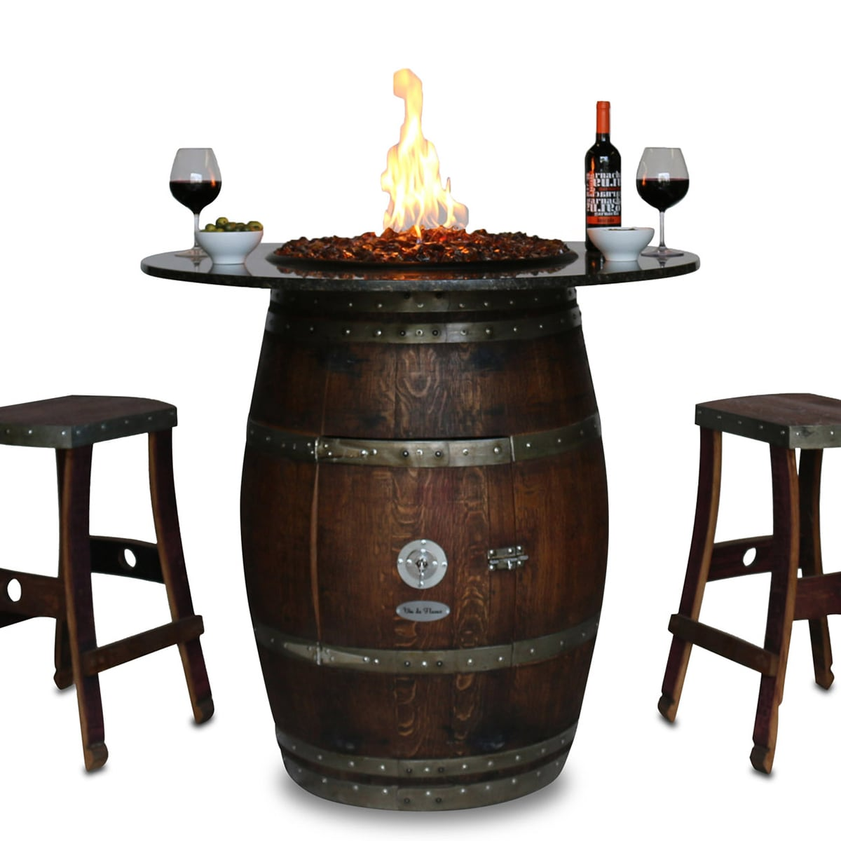 wine barrel table topper
