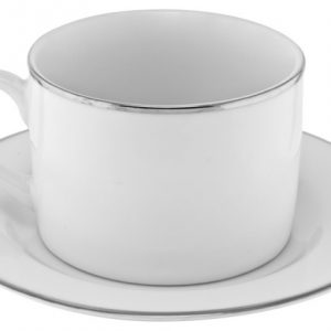 silver line china coffee cup and saucer