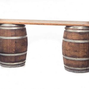 wine barrel table rental