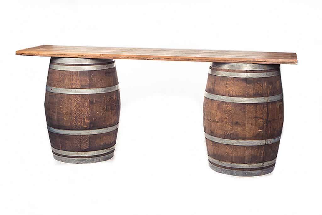 wine barrel table rental