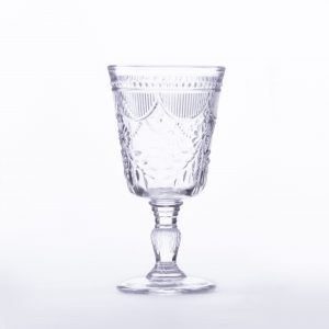 clear cut glass goblet