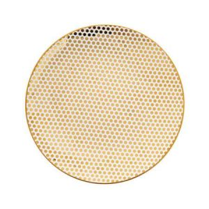 gold polka dot plate