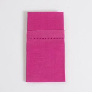 hot pink hemmed stitch napkin