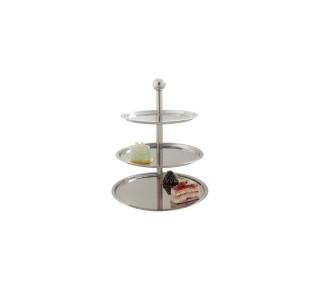 three tier tray metal