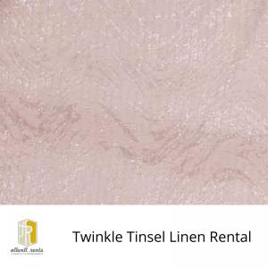 Twinkle Tinsel Linen Rental