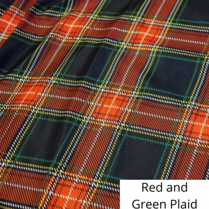 Red and Green Plaid Linen