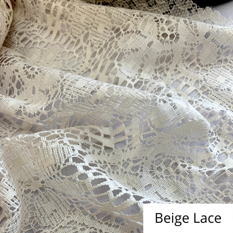 Beige Lace Linen