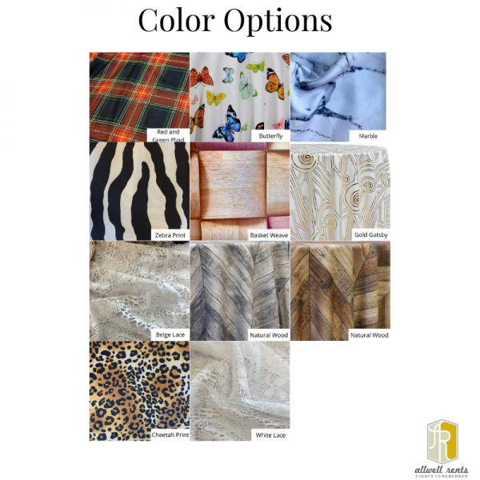 Artistic Linen Color Options