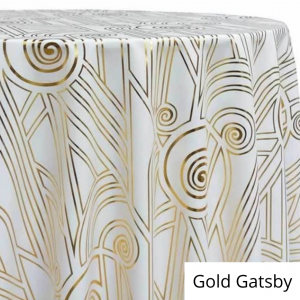 Gold Gatsby Linen Rental