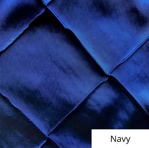 navy wide pintuck linen