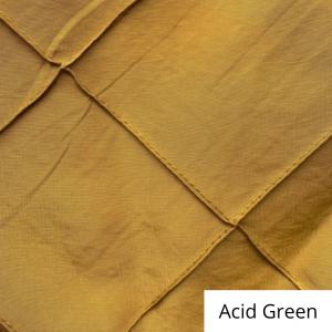 acid green wide pintuck linen