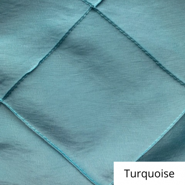 turquoise wide pintuck linen