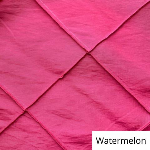watermelon wide pintuck linen