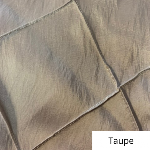 taupe wide pintuck linen