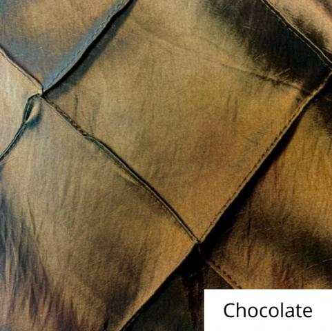 chocolate wide pintuck linen